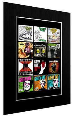 Mounted / Framed Print Greenday Discography - 3 Sizes  Poster Gift Artwork • 34.38£