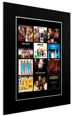 Mounted / Framed Print Abba 12 Albulm Discography - Different Sizes  Poster Gift • 13.12£