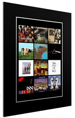 Mounted / Framed Print Pink Floyd 12 Album Discography - 3 Sizes Poster Gift Art • 44.12£