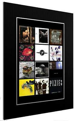 Mounted / Framed Print The Pixies Album Discography  2 Sizes Poster Gift Artwork • 23.95£