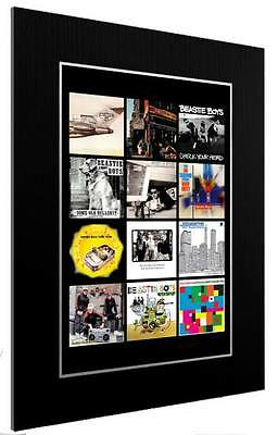 Mounted / Framed Print The Beastie Boys Discography 3 Sizes Poster Gift Artwork • 44.12£