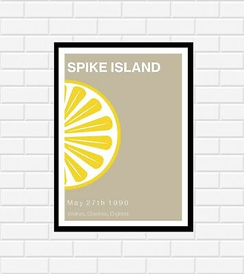 Stone Roses Spike Island Concert Poster • 19.99£