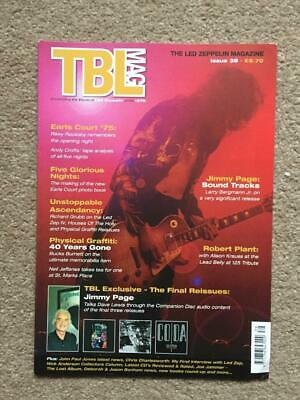 Led Zeppelin Fanzine / Magazine  Tight But Loose Issue 39 • 16£