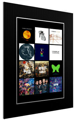 Mounted / Framed Print Coldplay Discography - Different Sizes Poster Gift Art • 44.11£