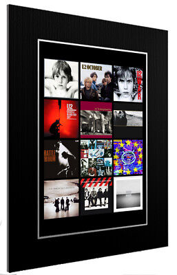 Mounted / Framed Print U2 Discography 3 Sizes Print Poster Artwork • 34.38£