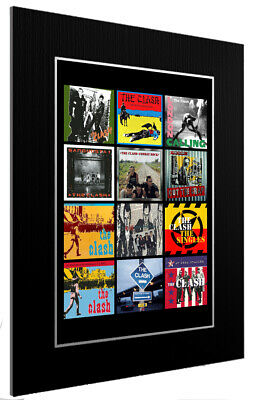 Mounted / Framed Print The Clash Discography 3 Sizes Print Poster Artwork • 45.44£