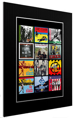 Mounted / Framed Print The Clash Discography 3 Sizes Print Poster Artwork • 34.38£