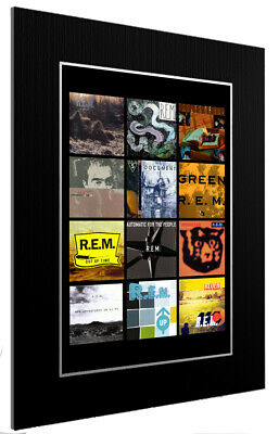 Mounted / Framed Print R.e.m Discography 3 Sizes Print Poster Artwork • 34.38£