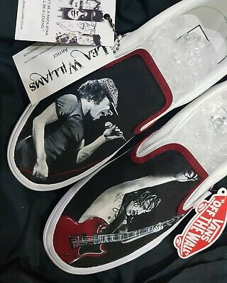 Handpainted Custom Vans Sneakers Trainers Shoes ACDC Angus Young Brian Johnson • 90£