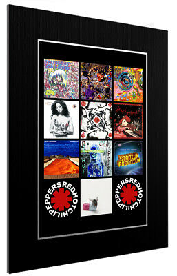 Mounted / Framed Print Red Hot Chilli Peppers Discography 3 Sizes Print Poster • 13.51£