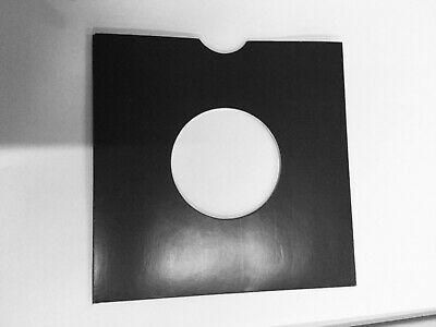 50 X 7 Inch BLACK  CARD RECORD SLEEVES  Free Post And Packing  • 9.99£