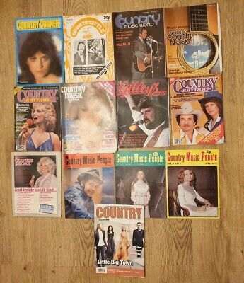 Vintage Country Music Magazine Bundle Gilleys World People Rhythms • 9.34£