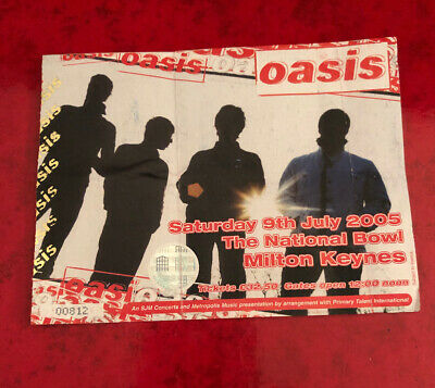 Oasis Ticket Don't Believe The Truth Tour Milton Keynes Bowl 9th July 2005 • 29.95£