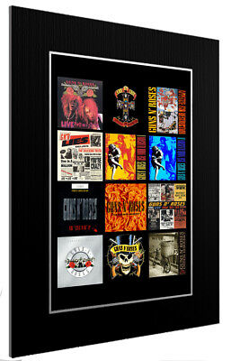 Mounted / Framed Print Guns N' Roses Discography - Different Sizes Poster Print • 26.21£