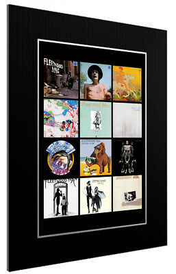 Mounted / Framed Print Fleetwood Mac Discography - Different Sizes Poster Art  • 33.39£