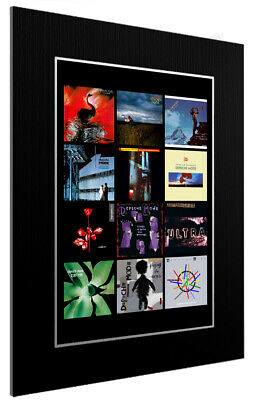 Mounted / Framed Print Depeche Mode Discography - Different Sizes Poster Art  • 44.11£