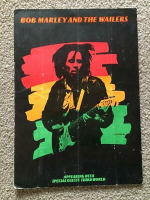 Tour Programme Bob Marley & The Wailers 1975 Natty Dread UK Tour Third World #2 • 95£