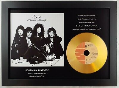 Queen 'bohemian Rhapsody' Signed Photo Gold Disc Cd Collectable Memorabilia • 14.99£