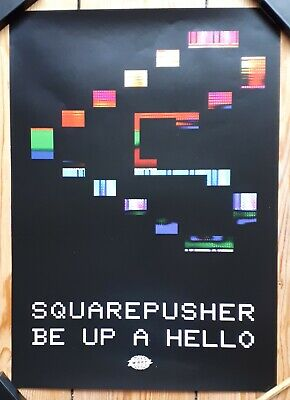Squarepusher Be Up A Hello Official  Promo Poster Warp • 8.50£