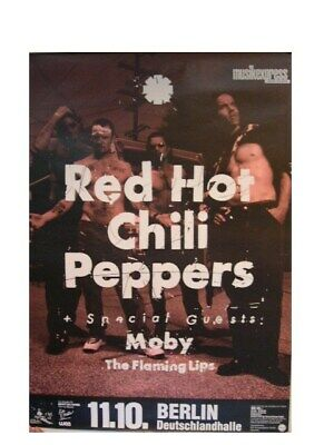 Red Hot Chili Peppers German Tour Poster With Moby The • 238.44£