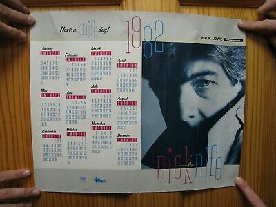 Nick Lowe Poster Nick The Knife Calendar 1982 • 163.39£