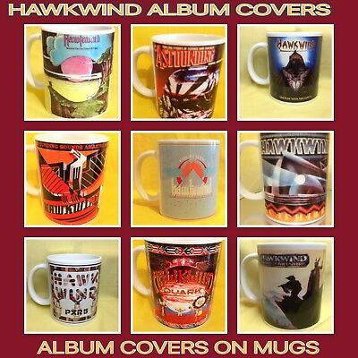 Hawkwind Album Covers On A Mug/s • 29.50£