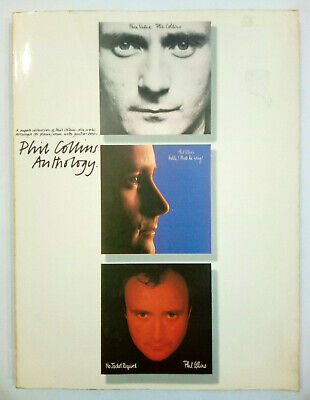 Phil Collins Anthology Face Value Hello No Jacket Piano Guitar Vocal Song Book • 4.55£
