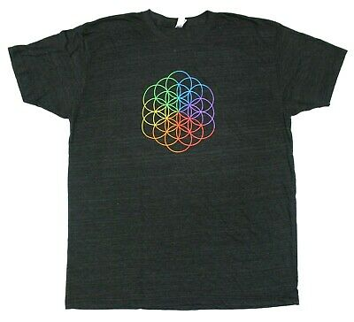 Coldplay Flower Of Life Logo A Head Full Of Dreams Concert Tour T-Shirt - 2XL • 14.72£