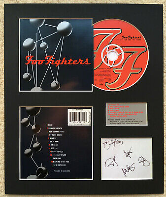 FOO FIGHTERS - Signed Autographed - THE COLOUR AND THE SHAPE - Album Display • 15£