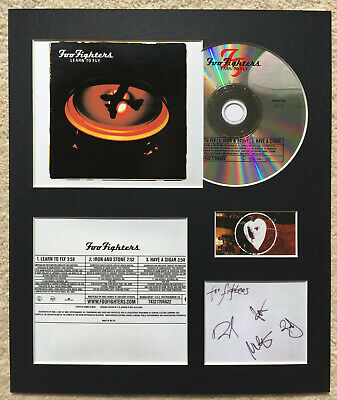 FOO FIGHTERS - Signed Autographed - LEARN TO FLY - Album Display • 15£