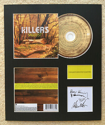 THE KILLERS - Signed Autographed - SAWDUST - Album Display • 15£