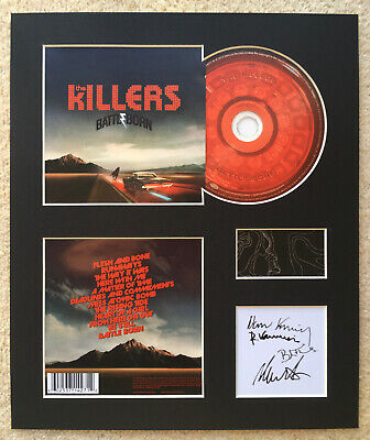 THE KILLERS - Signed Autographed - BATTLE BORN - Album Display • 15£