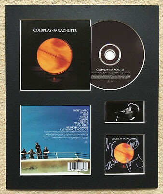 COLDPLAY - Signed Autographed - PARACHUTES - Album Display • 15£
