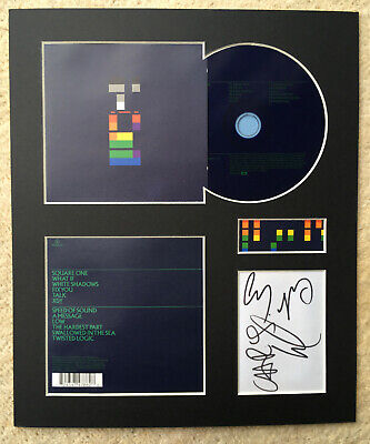 COLDPLAY - Signed Autographed - X & Y - Album Display • 15£