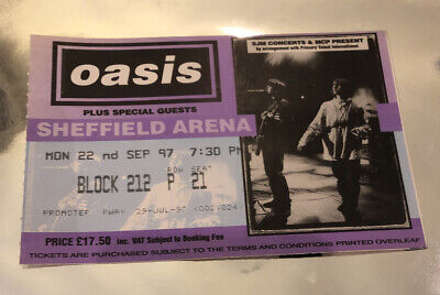 OASIS TICKET 'Be Here Now' Tour Sheffield Arena 22 Sept 1997 Rare & Sought After • 19.95£
