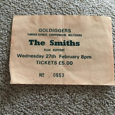 The Smiths Morrissey Ticket Chippenham Goldiggers 27/02/85 #0553 • 100£