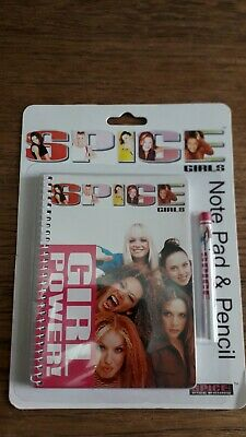 Spice Girls Note Pad & Pencil New • 15£