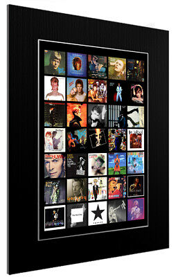 Mounted / Framed Print Complete David Bowie Discography - 3 Sizes Poster Art • 44.11£