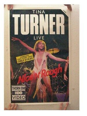 Tina Turner Poster Nice N' Rough On Stage Old • 25.66£