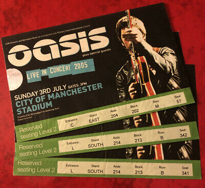 Oasis Ticket Don't Believe The Truth Tour Manchester City Stadium 03rd July 2005 • 29.95£