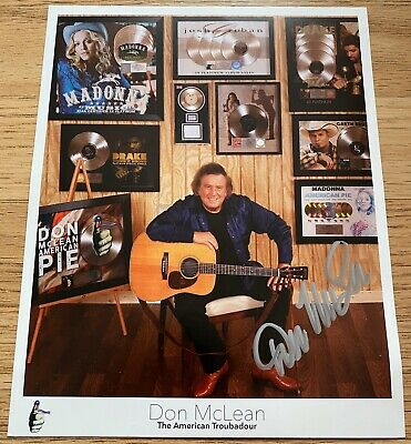 Don McClean SIGNED The American Troubador Photo High Quality Excellent Condtion • 24.99£