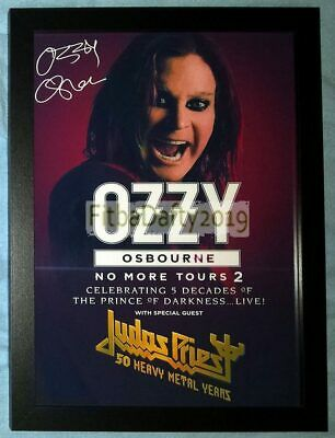 Ozzy Ozbourne Framed Signed (Printed) Cancelled Tour 2019 A4 Photo Print 02 • 9.99£
