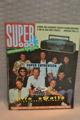 Dire Straits On Every Street Philips '92 Super Som Portuguese Magazine Interview • 39.99£