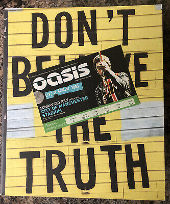 OASIS Ticket & Programme Don't Believe The Truth 2005 Manchester City Stadium • 35.95£