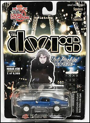 The Doors 68 Blue Lady Ford Mustang Hot Rockin' Die Cast Car Racing Champions • 25.50£