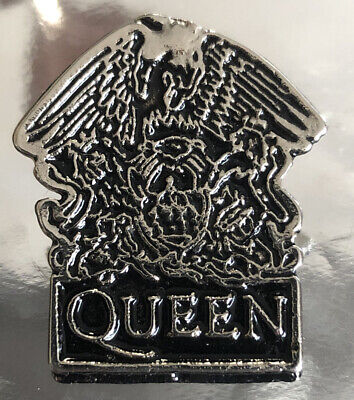 Official QUEEN CREST 'Freddie Mercury' Metal Pin Badge Rare Vintage Memorabilia • 19.99£