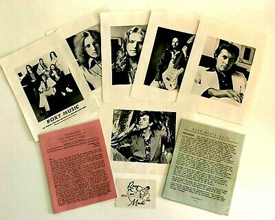 ROXY MUSIC - Ultra Rare Fan Club Memorabilia From 1973- Includes Portrait Prints • 99.99£
