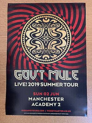GOVT MULE Live! 2019 Summer Tour Manchester Academy 2 Gig A3 Promo Poster • 7.49£