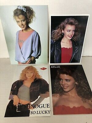 Kylie Minogue 4 Vintage Picture Cards Music Retro 1980s Collectible Postcards • 5.99£