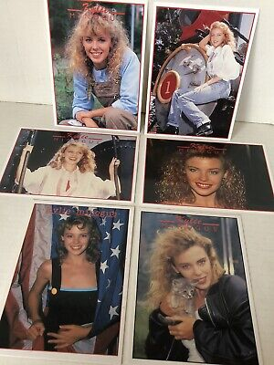Kylie Minogue 6 Vintage Picture Cards Music Retro 1980 Collectible Postcards • 7.99£
